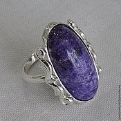 Украшения handmade. Livemaster - original item Ring with charoite. Handmade.