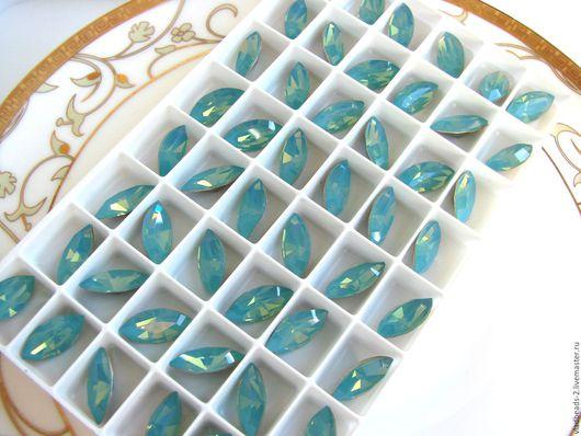 Для украшений ручной работы. Ярмарка Мастеров - ручная работа. Купить Сваровски Xilion Navette 15х4 мм Pacific Opal. Handmade.