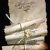 """Открытки ручной работы. Ярмарка Мастеров - ручная работа Приглашение на свадьбу """"Свиток"""". Handmade."""