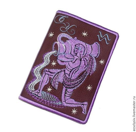"""Обложки ручной работы. Ярмарка Мастеров - ручная работа. Купить Обложка для паспорта """" Водолей  """". Handmade. Паспорт"""