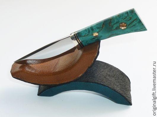 """Миниатюрные модели ручной работы. Ярмарка Мастеров - ручная работа. Купить Набор """"Мини-нож на подставке+ножны"""". Handmade. Подарочный набор"""