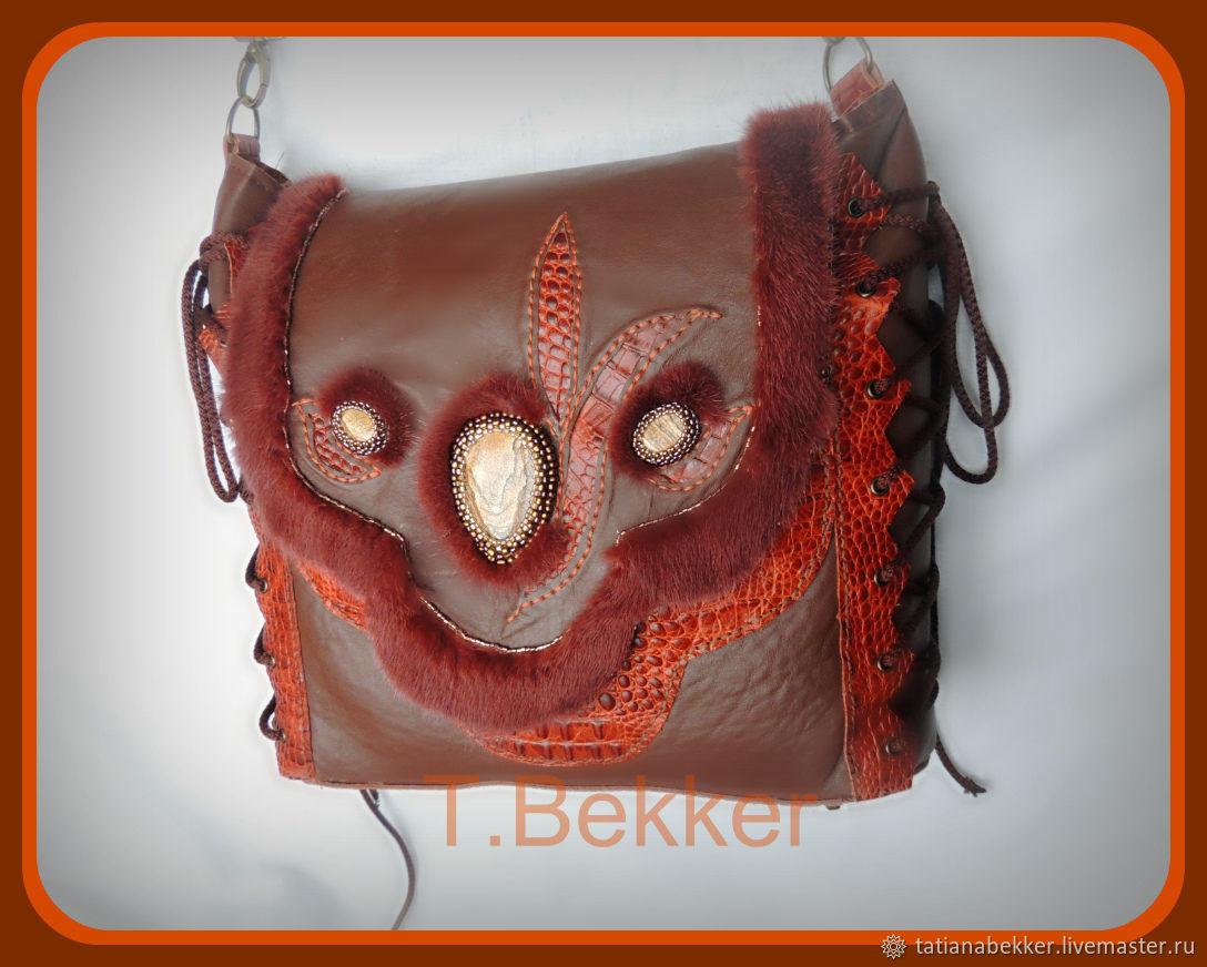 71a58366dd02 Женские сумки ручной работы. Ярмарка Мастеров - ручная работа. Купить Сумка  кожаная в стиле ...