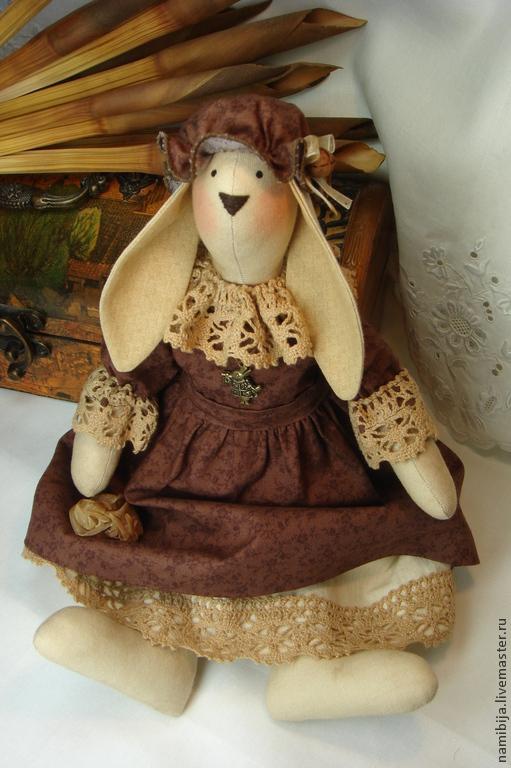 Куклы Тильды ручной работы. Ярмарка Мастеров - ручная работа. Купить Зайка в шоколадном. Handmade. Коричневый, зайчонок, кролик ТИЛЬДА