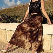 Одежда ручной работы. Ярмарка Мастеров - ручная работа Длинная летняя юбка Шоко-моко. Handmade.