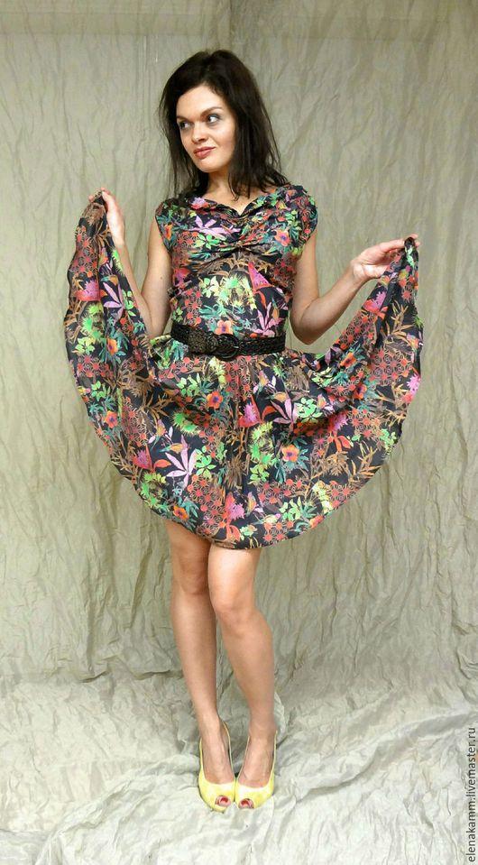 Платья ручной работы. Ярмарка Мастеров - ручная работа. Купить Платье из шелкового батиста. Handmade. Цветочный, платье летнее