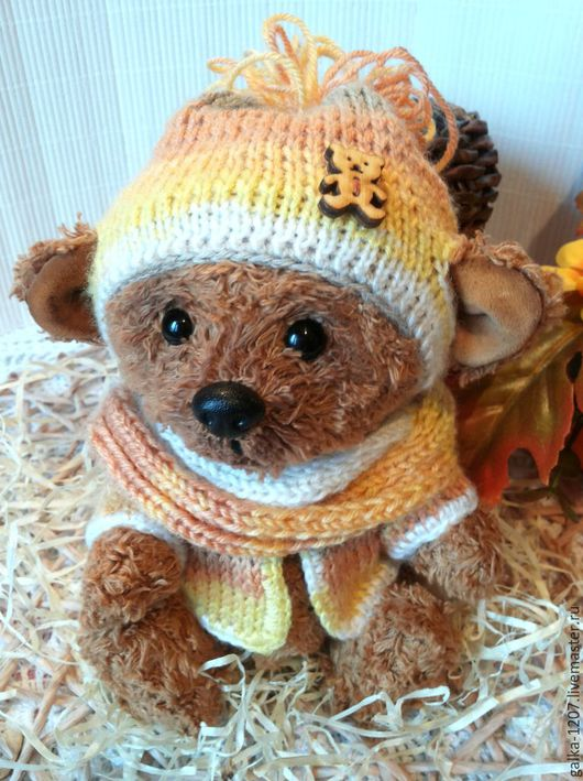 Мишки Тедди ручной работы. Ярмарка Мастеров - ручная работа. Купить Сева. Handmade. Коричневый, мишка в подарок, подарок ребенку