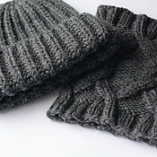 Аксессуары handmade. Livemaster - original item Knitted hat and Snood. Handmade.