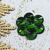 Материалы для творчества handmade. Livemaster - original item Glass rhinestones 12 mm Rivoli Birch forest. Handmade.