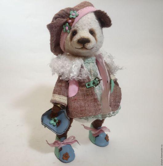 Мишки Тедди ручной работы. Ярмарка Мастеров - ручная работа. Купить Панда тедди Весна. Handmade. Мишка ручной работы