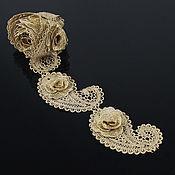 Материалы для творчества handmade. Livemaster - original item Original 3D trim, Roses Paisley. Handmade.