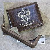 Канцелярские товары handmade. Livemaster - original item Cover of the lawyer`s certificate in a gift box. Handmade.