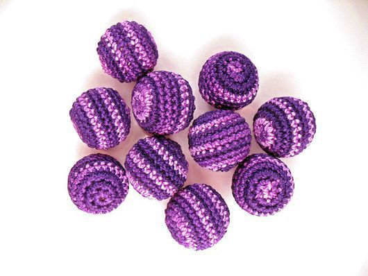 Для украшений ручной работы. Ярмарка Мастеров - ручная работа. Купить Набор из 10 бусин, цв. розово-фиолетовый. Handmade.