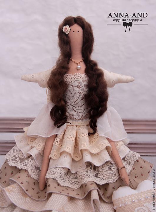 Куклы Тильды ручной работы. Ярмарка Мастеров - ручная работа. Купить Фея любви Айвори ( по мотивам). Handmade. Бежевый