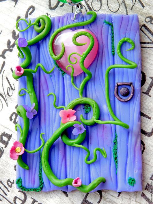 """Колье, бусы ручной работы. Ярмарка Мастеров - ручная работа. Купить Колье """"Дверь в мечту"""". Handmade. Сиреневый"""