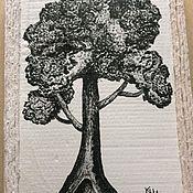 """Картины ручной работы. Ярмарка Мастеров - ручная работа Картина """"Могучий дуб"""". Handmade."""