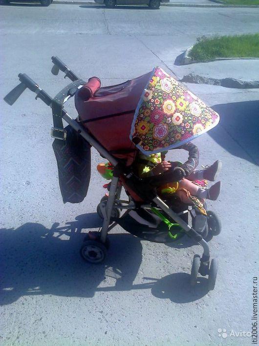 Аксессуары для колясок ручной работы. Ярмарка Мастеров - ручная работа. Купить Козырек кап от солнца на коляску. Handmade. Комбинированный, козырек