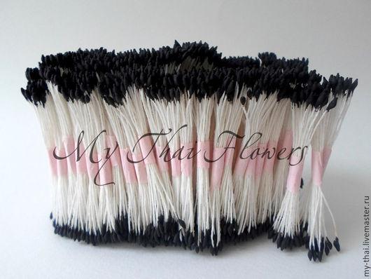 Тычинки. Каплевидные черные головки. My Thai, Материалы для флористики из Таиланда