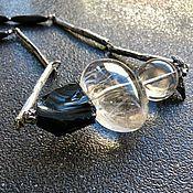 Украшения handmade. Livemaster - original item Necklace My day. Obsidian, rhinestone, annabronze fittings. Handmade.