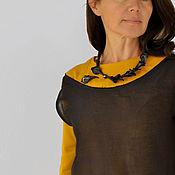 Украшения handmade. Livemaster - original item Porcelain necklace and brooch