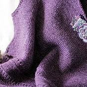 Одежда ручной работы. Ярмарка Мастеров - ручная работа Жилет вязаный- удлиненный жилет ручной работы. Handmade.
