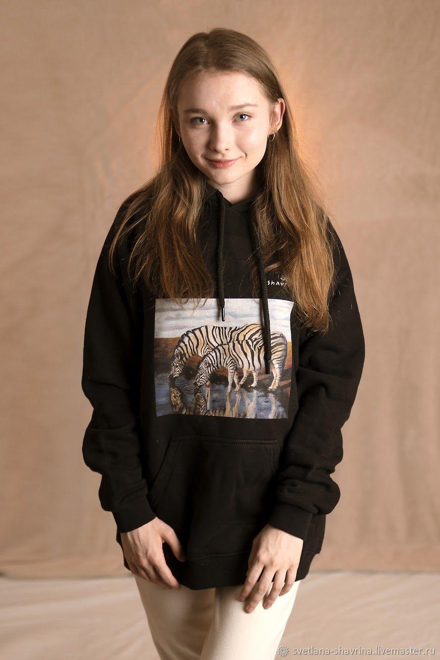 Hoodies: ZEBRA author's UNISEX sweatshirt with print, Sweatshirts, Moscow,  Фото №1