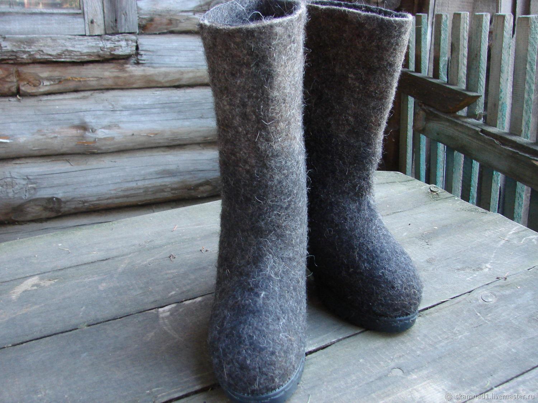 """Обувь ручной работы. Ярмарка Мастеров - ручная работа. Купить Валенки """"Традиция"""". Handmade. Валяние, серый, обувь ручной работы"""