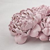 Для дома и интерьера ручной работы. Ярмарка Мастеров - ручная работа Пион - подхват для штор - керамические цветы для интерьера. Handmade.