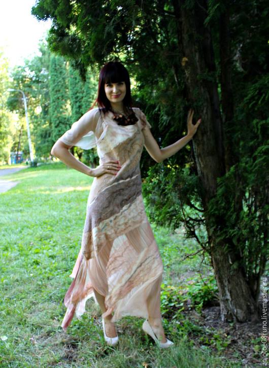 """Платья ручной работы. Ярмарка Мастеров - ручная работа. Купить Платье """"Горячий капучино"""".. Handmade. Бежевый, платье вечернее"""