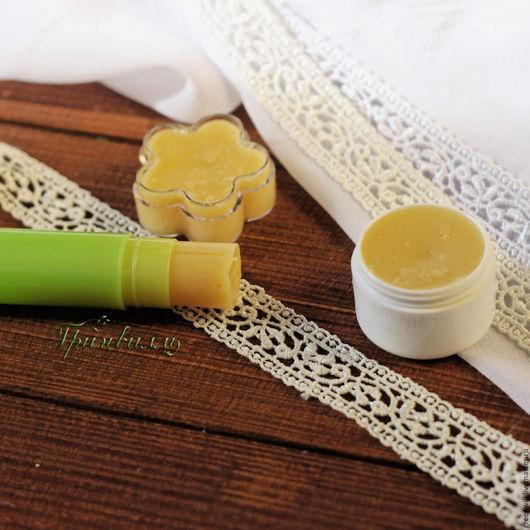 Бальзам для губ ручной работы. Ярмарка Мастеров - ручная работа. Купить Бальзам для губ с маслом Ши. Handmade. Бежевый