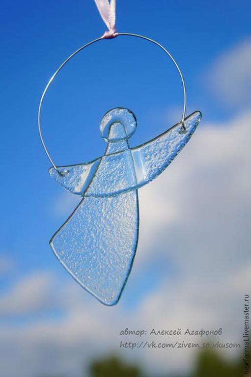 """Новый год 2017 ручной работы. Ярмарка Мастеров - ручная работа. Купить Стеклянный ангел """"Дыхание неба"""". Handmade. Ангел, ангелочек"""