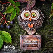 Сувениры и подарки handmade. Livemaster - original item Owl magnet