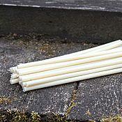 Фен-шуй и эзотерика handmade. Livemaster - original item White wax candle 18 cm. Handmade.