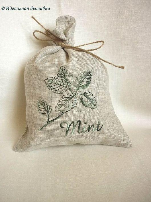 """Кухня ручной работы. Ярмарка Мастеров - ручная работа. Купить Мешочек льняной """"Mint"""". Handmade. Льняной мешочек, подарочный мешочек"""