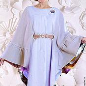 Одежда ручной работы. Ярмарка Мастеров - ручная работа Пончо пальто из шерсти  на шелковой подкладке. Handmade.