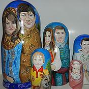 Подарки к праздникам handmade. Livemaster - original item Portrait matryoshka your photos. Handmade.