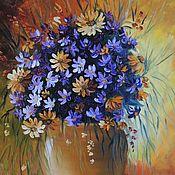 """Картины и панно ручной работы. Ярмарка Мастеров - ручная работа """"Яркий букет"""" Картина маслом Цветы в вазе. Handmade."""