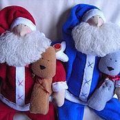 Куклы и игрушки ручной работы. Ярмарка Мастеров - ручная работа Санта с оленем. Handmade.