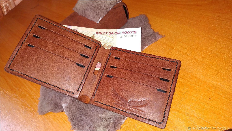 Bifold Leather Wallet, Кошельки, Симферополь,  Фото №1