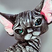 Куклы и игрушки handmade. Livemaster - original item Thelo. Cat Devon Rex. Handmade.