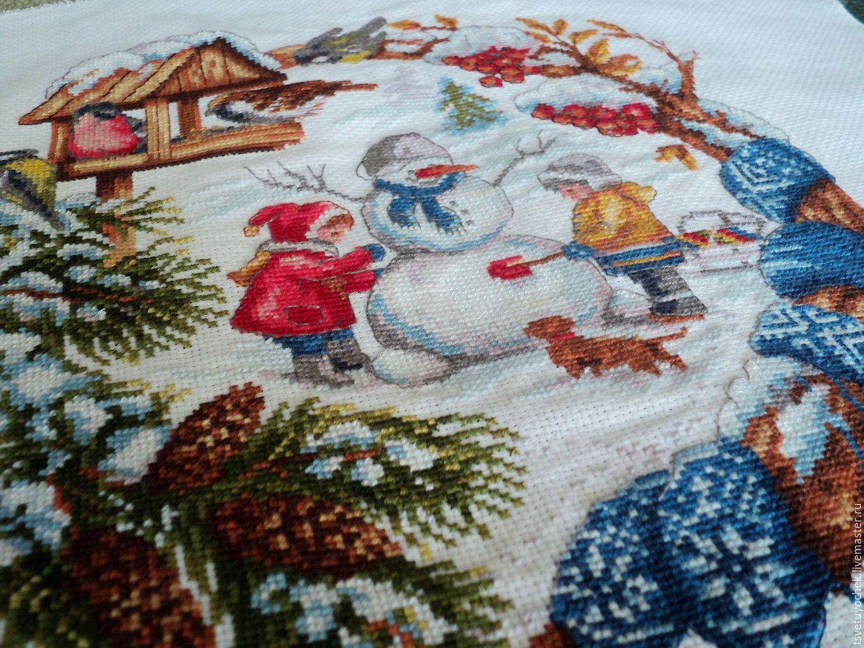Вышивка крестом зимние забавы