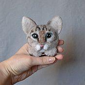 Украшения ручной работы. Ярмарка Мастеров - ручная работа Брошка-кошка (из войлока). Handmade.