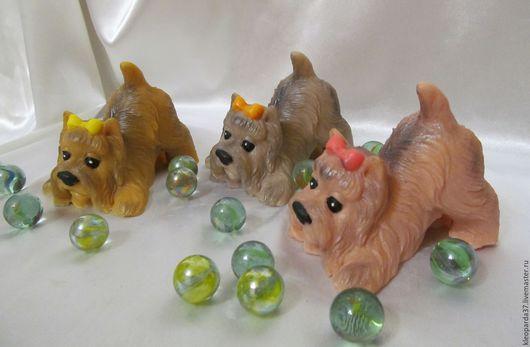 """Мыло ручной работы. Ярмарка Мастеров - ручная работа. Купить Мыло сувенирное """"Весёлый йорк"""".. Handmade. Комбинированный, йорик"""