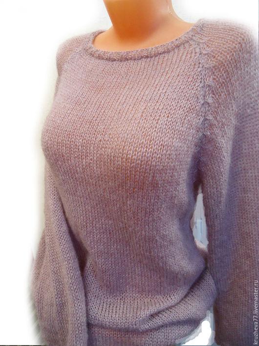 Кофты и свитера ручной работы. Ярмарка Мастеров - ручная работа. Купить Джемпер 44-46 размера. Handmade. Бледно-розовый