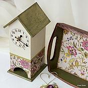 """Для дома и интерьера ручной работы. Ярмарка Мастеров - ручная работа Чайный домик  """"Graceful flowers"""".. Handmade."""