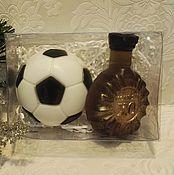 Косметика ручной работы. Ярмарка Мастеров - ручная работа набор мыла мяч и коньяк. Handmade.