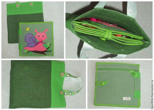 """Развивающие игрушки ручной работы. Ярмарка Мастеров - ручная работа. Купить Мягкая развивающая книжка """"Улитка"""". Handmade. Комбинированный, ткань"""