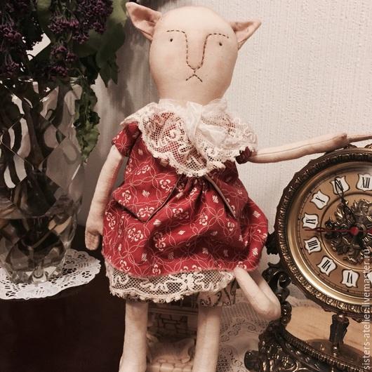 Игрушки животные, ручной работы. Ярмарка Мастеров - ручная работа. Купить Глаша, кукла примитив. Handmade. Коралловый, примитивная кукла