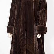 Одежда ручной работы. Ярмарка Мастеров - ручная работа Шуба НОРА Норка блэкгламма стиль манто- свингер 54-56. Handmade.