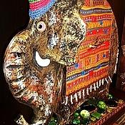 """Для дома и интерьера ручной работы. Ярмарка Мастеров - ручная работа Настольные часы """"Слон """".. Handmade."""