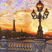 Картины и панно ручной работы. Ярмарка Мастеров - ручная работа Парижский вечер. Вышитая картина в подарок.. Handmade.